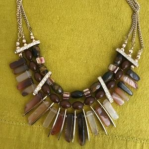 New Stone Statement Necklace